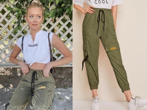 hannah godwin, the bachelor, green cargo pants