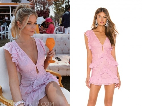 hannah godwin, pink lace dress, the bachelor
