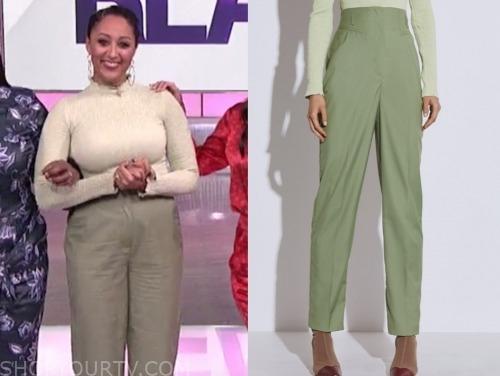 tamera mowry, the real, green pants