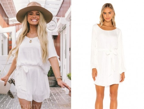 demi burnett, the bachelor, white dress