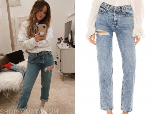 the bachelor, becca tilley, ripped jeans