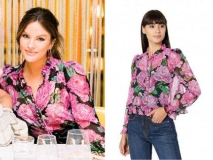 becca tilley, the bachelor, floral blouse