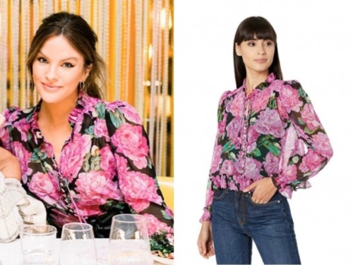 becca tilley, the bachelor, floral blouse