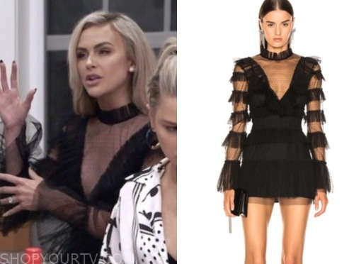 lala kent, vanderpump rules, black lace dress