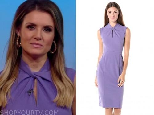 jillian mele, fox and friends, purple twist dress