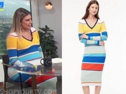 carissa culiner, E! news, daily pop, colorblock stripe midi dress