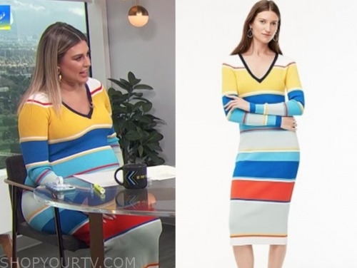 carissa culiner, E! news, daily pop, colorblock stripe midi dress