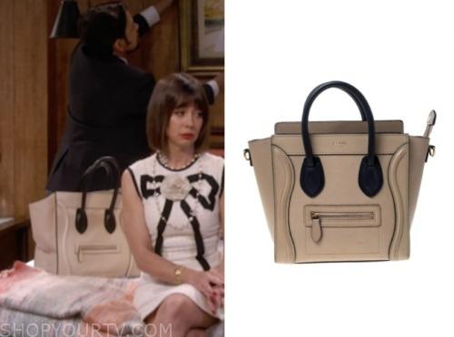 elizabeth, natasha leggero, broke, colorblock bag