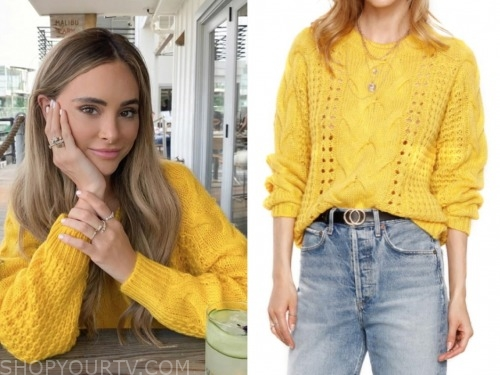 amanda stanton, the bachelor, yellow sweater