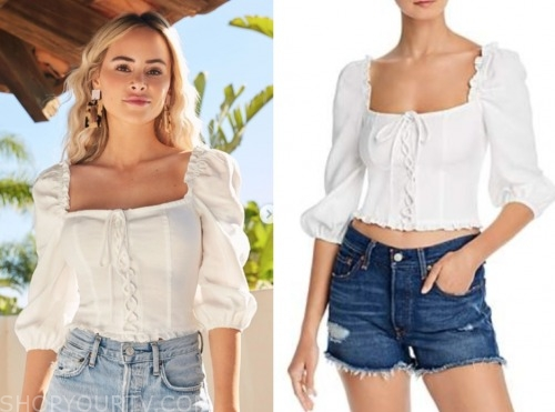 amanda stanton, white lace-up top, the bachelor