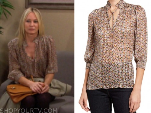 sharon case, sharon newman, the young and the restless, floral blouse