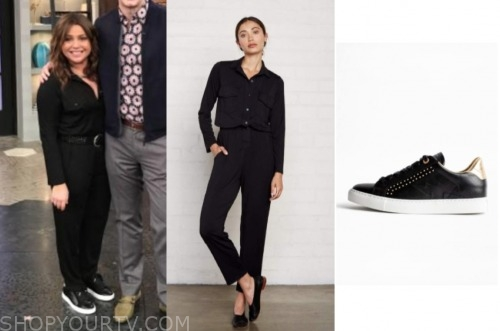 rachael ray, the rachael ray show, black jumpsuit, black sneakers