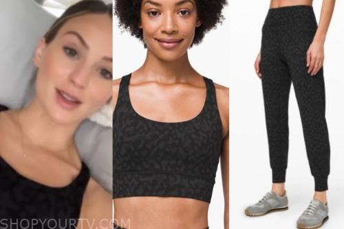 lauren Bushnell, leopard sports bra and leggings, the bachelor