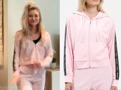 mykenna dorn, the bachelor, pink hoodie