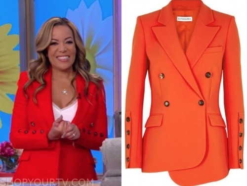 sunny hostin, red double breasted blazer, the view