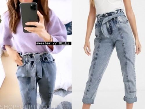 E! news, lilliana vazquez, paperbag jeans