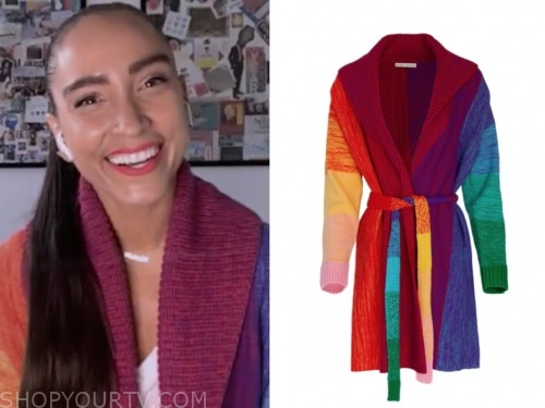 robin arzon, gma, ombre rainbow cardigan