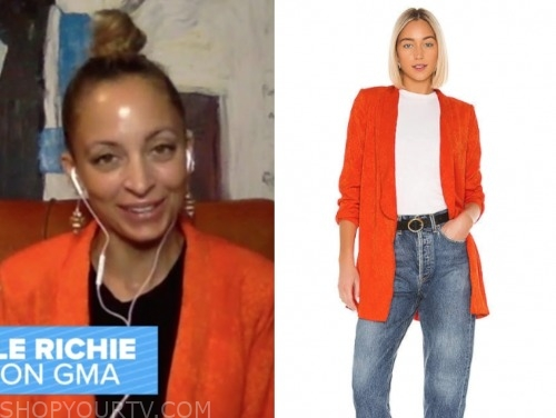 nicole ritchie, gma, orange blazer
