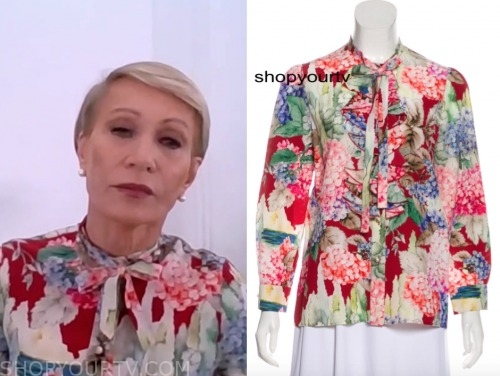 barbara cochran, good morning america, floral blouse