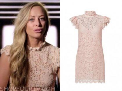 jessica batten, love is blind, blush pink lace dress