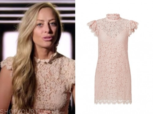 jessica batten, love is blind, blush pink lace dress