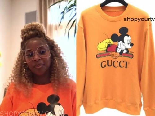 mary j. blige, good morning america, orange mickey mouse sweatshirt