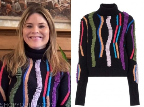 jenna bush hager, the today show, multicolor turtleneck