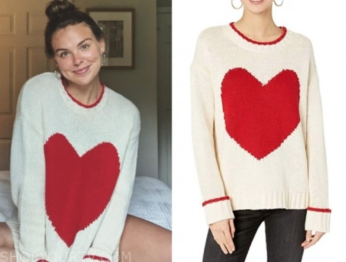hannah brown, heart print sweater, the bachelorette