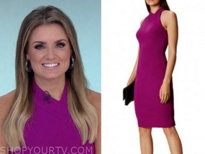 jillian mele, fox and friends, purple sheath dress