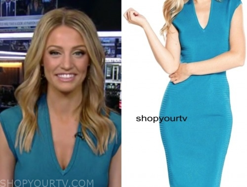 carley shimkus, fox and friends, teal dress