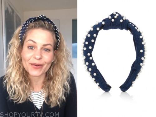 candace cameron bure, pearl velvet headband, instagram