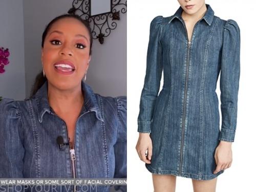 sheinelle jones, denim zipper dress, the today show