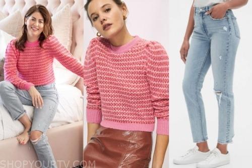 jillian harris, pink sweater, ripped jeans, the bachelorette