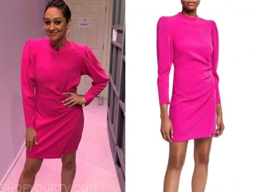 tia mowry, family reunion, pink dress