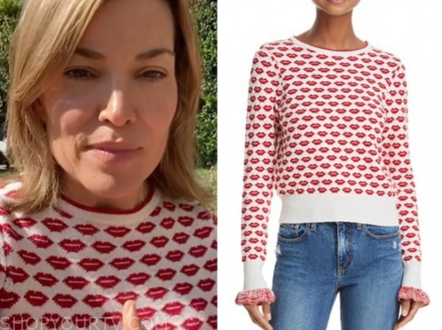 kit hoover, access hollywood, lip sweater