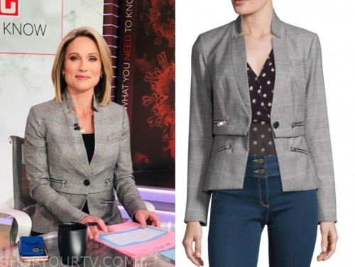 amy robach, plaid jacket, good morning america