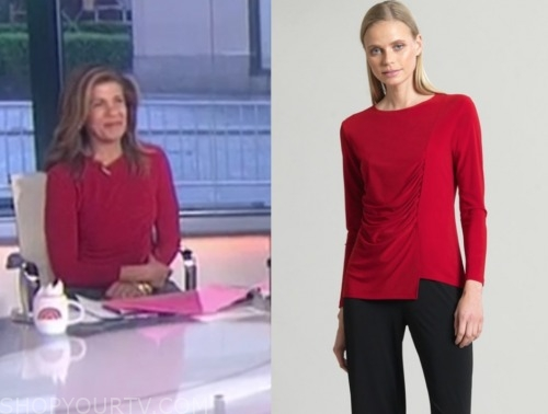 the today show, hoda kotb, red top