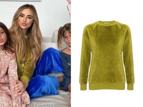 amanda stanton, the bachelor, green velour sweater