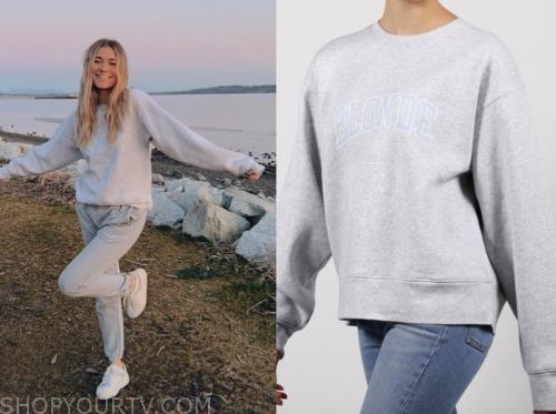 mykenna dorn, the bachelor, grey sweatshirt