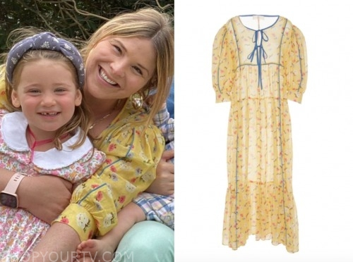 the today show, jenna bush hager, yellow floral easter dress