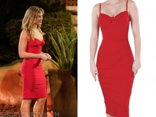 julia rae, the bachelor: listen to your heart, red twist dress