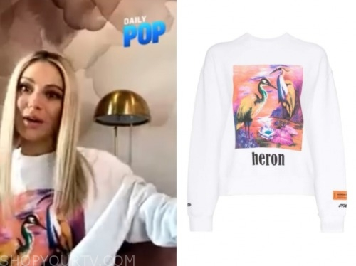 dorit kemsley, E! news, daily pop, bird sweater