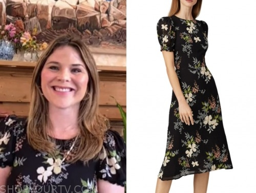 jenna bush hager, the today show, floral midi dress
