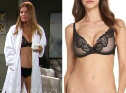 phyllis newman, michelle stafford, black lace bra, the young and the restless