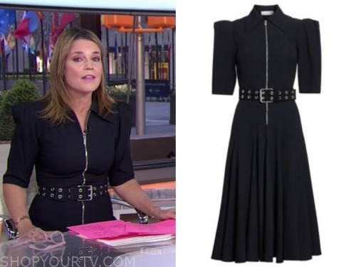 savannah guthrie, the today show, zip-front belted midi dress