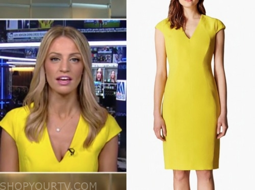 carley shimkus, yellow dress, fox and friends
