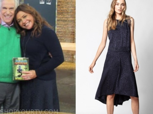 rachael ray, the rachael ray show, navy blue dress
