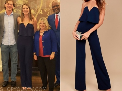 jessica, married at first sight, navy jumpsuit