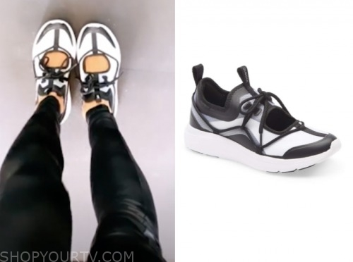 very cavallari, kristin cavallari, black and white cutout sneakers