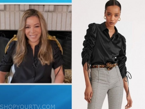 the view, sunny hostin, black drawstring sleeve top